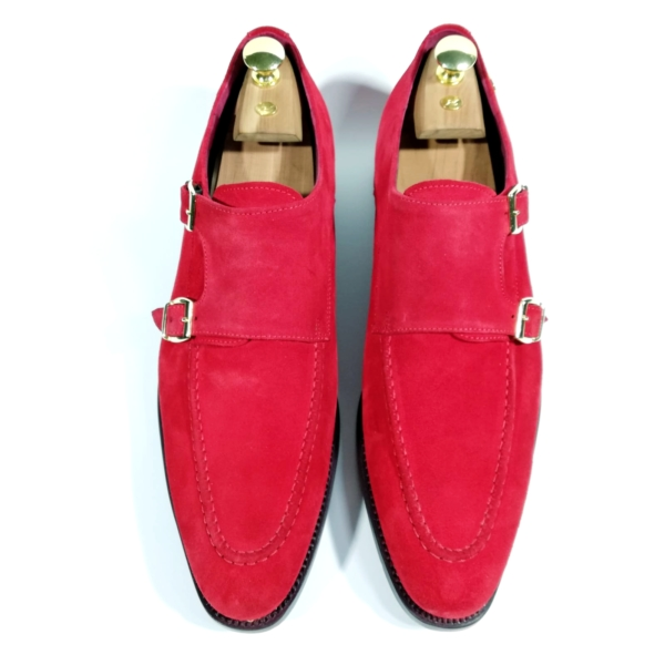 zanni-men-shoes-cefalù-handmade-handcrafted-bespoke-made-in-italy-italian-leather-monk-strap-suede-red-color-exclusive-prestige-fashion-style-scarpe-uomo-eleganti-artigiani-shop-on-line-luxury
