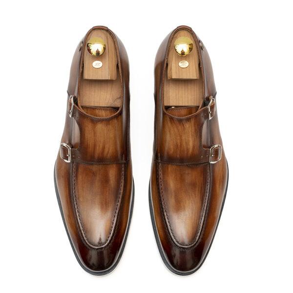 buckles-zanni-men-shoes-made-in-italy-italian-leather-handmade-barbara-zanni-designer-cefalù-cognac-color-new-york-united-states-fashion-style-scarpe-uomo-roma