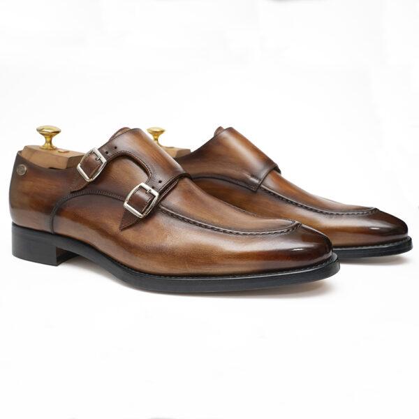 zanni-men-shoes-buckles-made-in-italy-italian-leather-handmade-barbara-zanni-designer-cefalù-cognac-color-new-york-united-states-fashion-style-scarpe-uomo-roma